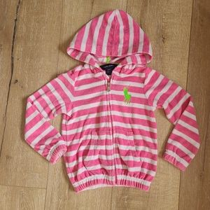 Ralph Lauren Pink Striped French Terry Hoodie